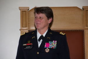 Vicki Hudson Army Retirement Ceremony
